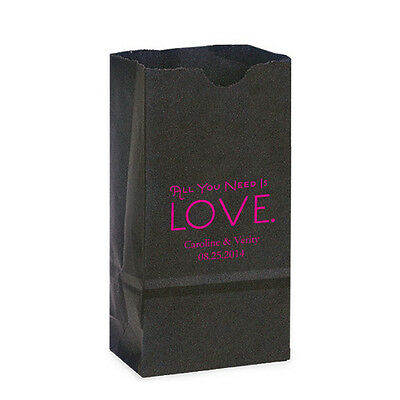 Terrific 50 True Love Personalized Printed Wedding Favor Bags Candy Home Interior And Landscaping Palasignezvosmurscom