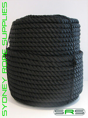 24Mm X 100Mtrs Stunning Black Polyester Mooring Rope