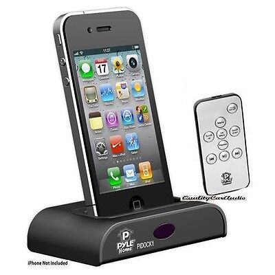 NEW Pyle PIDOCK1 iPod/iPhone Docking Station w/Remote Control (30-Pin Connector)