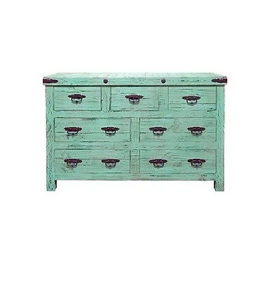 Painted Reclaimed Wood Dresser Rustic Western Real Solid Wood Lodge Cabin