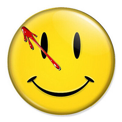"Watchmen Smiley Face 25mm 1"" Pin Badge Button DC Comics"