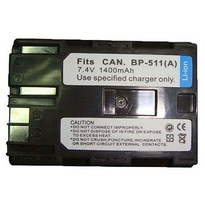 PACK BP-511 BP-511A Battery for CANON Digital Rebel EOS 300D 20D 40D D60 D30 G6