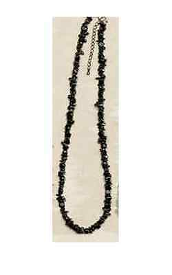 Black Agate Bead Strand Necklace Big Sky Carvers Silver