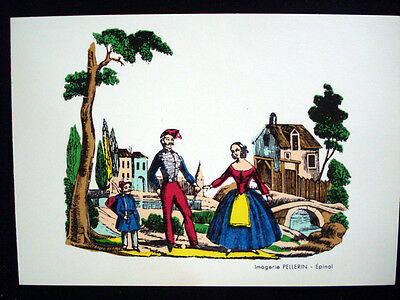 Vintage Imagerie Pellerin d'Epinal Common Scenes Greeting Cards InvFF