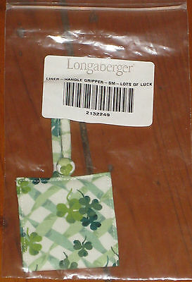 Longaberger St Patricks LOTS of LUCK SM SMALL Basket HANDLE GRIPPER NIB USA