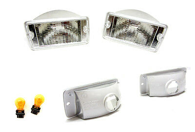 NEW Jeep Wrangler TJ (97-06) Clear Front Indicator Lamps PAIR ( LH + RH)