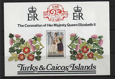 Turks & Caicos 1978 25th Anniversary of Coronation MS SG 498 MNH