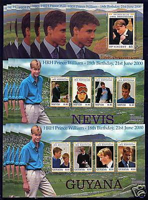 2000 Prince Williams 18th Birthday Non Crown Agents MNH