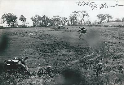 Ken Hummel signed autograph WW II Tank Operator Battle of Bulge RARE LOOK!