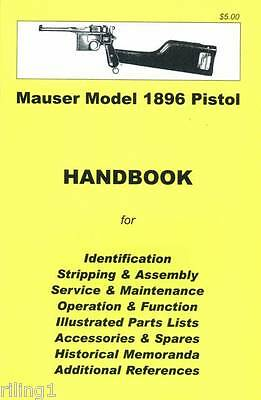 Mauser Broomhandle Model 1896 Pistol Assembly, Disassem