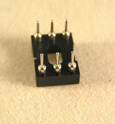 "Turned pin IC socket 6 way (gold plated inners) 0.3"" 10 pieces OLA2-06"