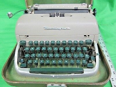 Vintage Green Remington Portable Typewriter with case