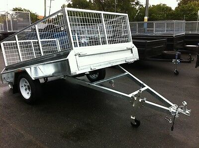 New 8X5 Gal Caged Heavy Duty Trailer Ready For Work !