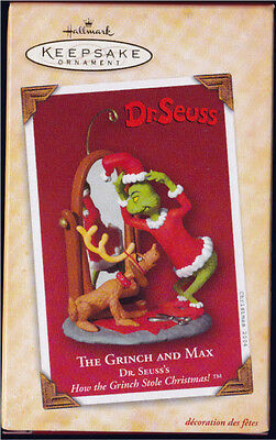 2004 Hallmark DR SEUSS THE GRINCH AND MAX Ornament