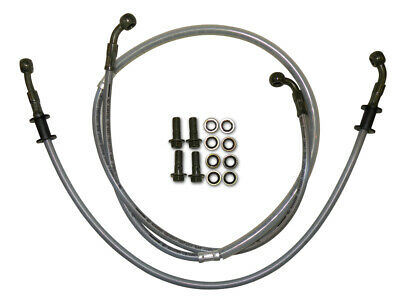 New Dhz Front & Rear Braided Brake Cable Line Kit