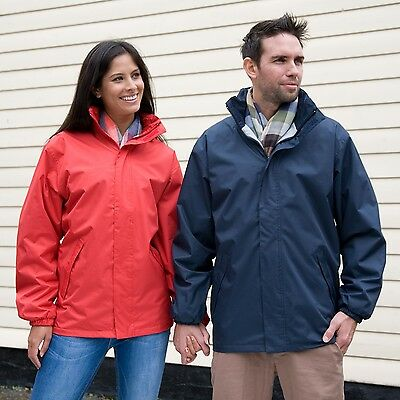 RESULT CORE HOODED WATERPROOF MIDWEIGHT JACKET COAT 4 Cols S to XXXL WOMENS MENS
