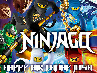 NINJAGO Edible CAKE Decoration Frosting Image Icing Topper FREE SHIP