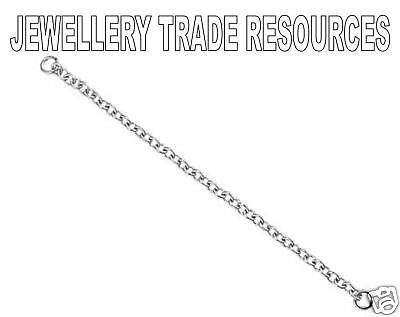 18ct WHITE GOLD BRACELET SAFETY CHAIN