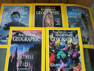 1994 and 1996 NATIONAL GEOGRAPHIC COLLECTION of FIVE MAGAZINES