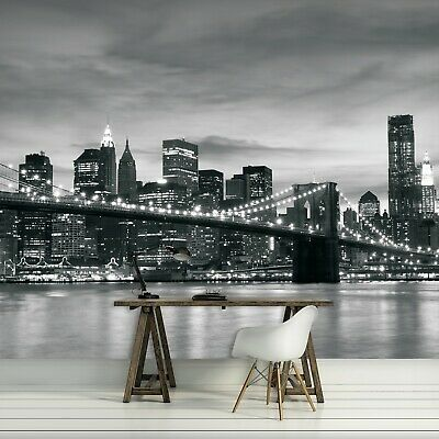Photo Wallpaper NEW YORK BROOKLYN BRIDGE - 254cm x 184cm Wall Mural (011P4)