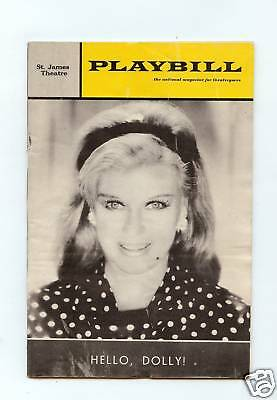 "Vintage PLAYBILL ""HELLO DOLLY"" Starring: Ginger Rogers, 1966"