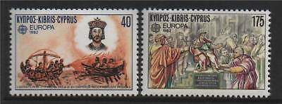 Cyprus 1982 Europa-Historical Events SG 586/7 MNH