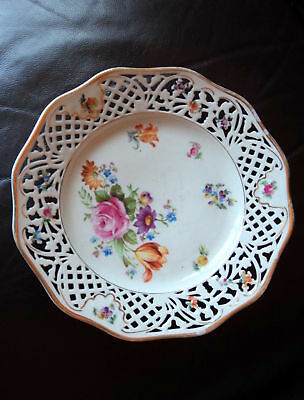 1920'S SCHUMANN DRESDEN RETICULATED LARGE PLATE LOVELY