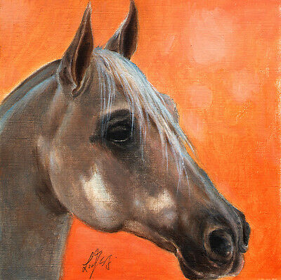 ★ Original Oil HORSE Portrait Painting PONY Art Artwork on Canvas from Artist