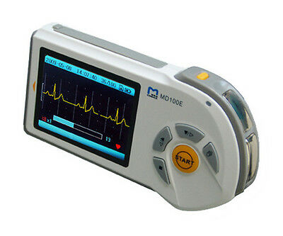 New Model Portable Handheld ECG Heart Rate Monitor + Free 2GB Micro-SD Card