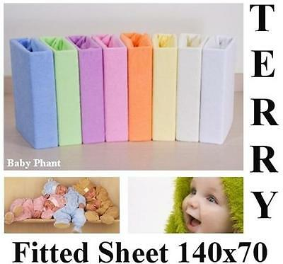 Terry Towelling Fitted Sheet 140x70 Nursery Baby Cot/ Cot Bed/ Mattress/ Bedding