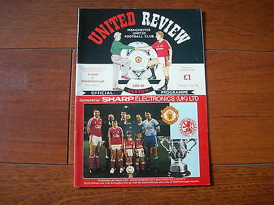 1992 LEAGUE CUP SEMI - FINAL MANCHESTER UNITED v MIDDLESBROUGH