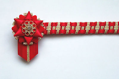 everyday velvet Cornerstone Browband Red white and gold