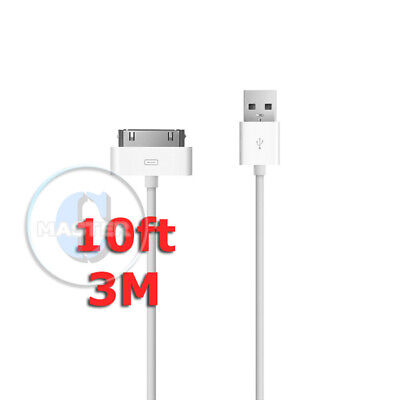 10ft 3m CHARGING DATA SYNC DOCK TO USB CABLE FOR APPLE iPOD CLASSIC NANO TOUCH