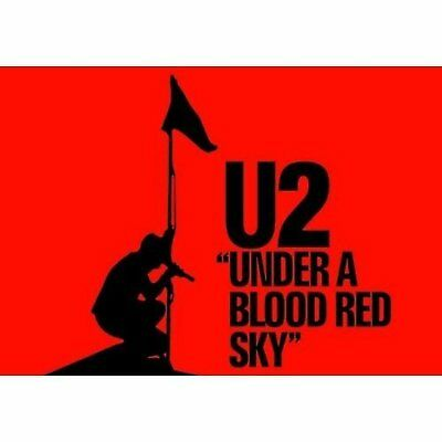 U2 Under A Blood Red Sky Album Cover Postcard Picture Image Official Merchandise