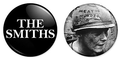 "2 x The Smiths Combo 25mm 1"" Pin Badges Morrissey Meat Is Murder Alt Rock"