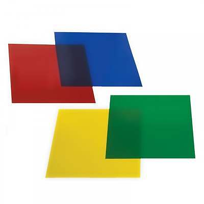 Set of 4 Colured Colored Gel Filter Sheets for Par 56 Can Red Green Yellow Blue