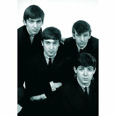 The Beatles Early Years Black White Group Photo Postcard Official Merchandise