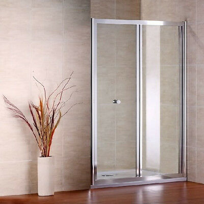 Aica 700X800mm Chrome Bifold Shower Enclosure cubicle Door+Stone tray A
