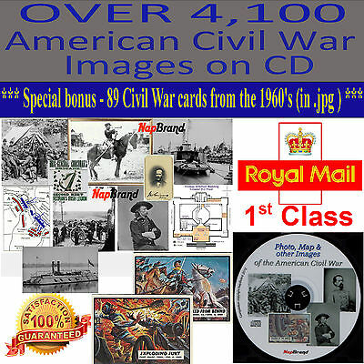 OVER 4,100 American Civil War Images on CD  United States v Confederate States