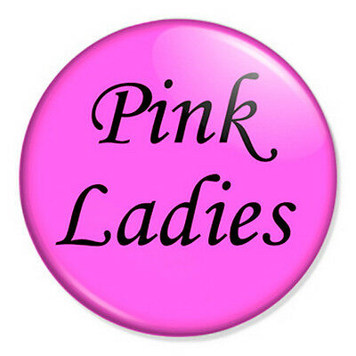 """Pink Ladies 25mm 1"""" Pin Badge Button Grease Hen Night Fancy Dress"""