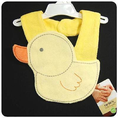 NWT~CARTERS~YELLOW DUCK/Duckie/DUCKY~SPRING/EASTER BIB~Baby GIRLS+BOYS~Newborn++
