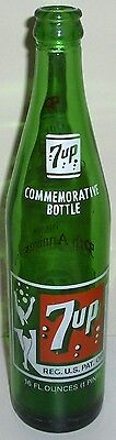 1978 7-UP 50TH ANNIVERSARY COMMEMORATIVE GREEN SODA BOTTLE ST. LOUIS, MO