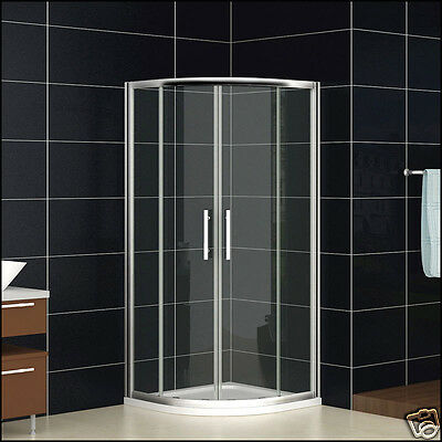 900x900mm Quadrant Shower Enclosure Corner Cubicle Door And Stone Tray Chrome