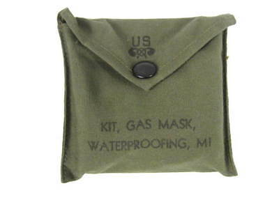 WWII US Army Chemical Corps M1 Gas Mask Waterproofing Kit MINT Unissued Cond