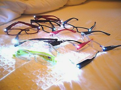 Reading Glasses W/ Led Lights..now In 9 Colors..amazing What U Can Do With These