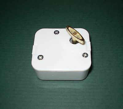 Music Box Movement-Brahms Lullaby, White Case, for Stuffed Animals, baby, craft