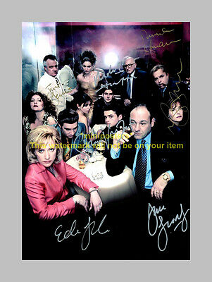 "The Sopranos Cast X7 Pp Signed Poster 12""x8"" Gandolfini"