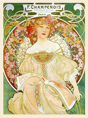 Mucha Van Houten Hot Chocolate Cocoa Candy Lady Vintage Poster Repro FREE SHIP