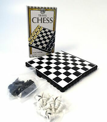Chess Travel Game Magnetic Pieces Pocket Size Lightweight Strategy Game NEW