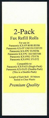 2-pack of KX-FA55 Fax Film Refill Rolls for Panasonic KX-FPC91 KX-FPC95 KX-FPC96